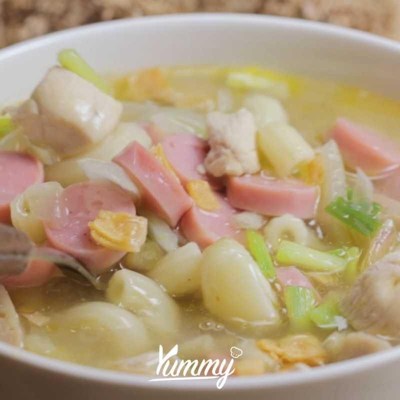 Sup Ayam Macaroni Sosis