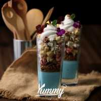 Pudding Served With Popcorn