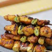 Honey & Turmeric Chicken Skewers