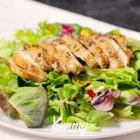 Salad Mixed With Honey Lime Dressing