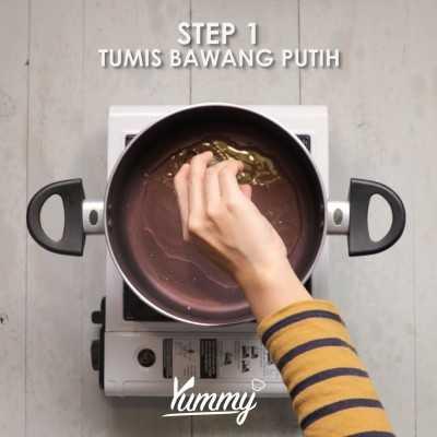 Step 1 Bihun Sayuran Kuah Kari