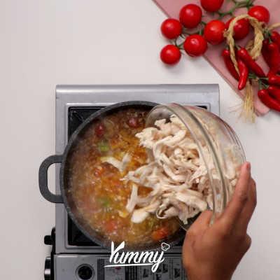 Step 4 Mixican Chicken Stew