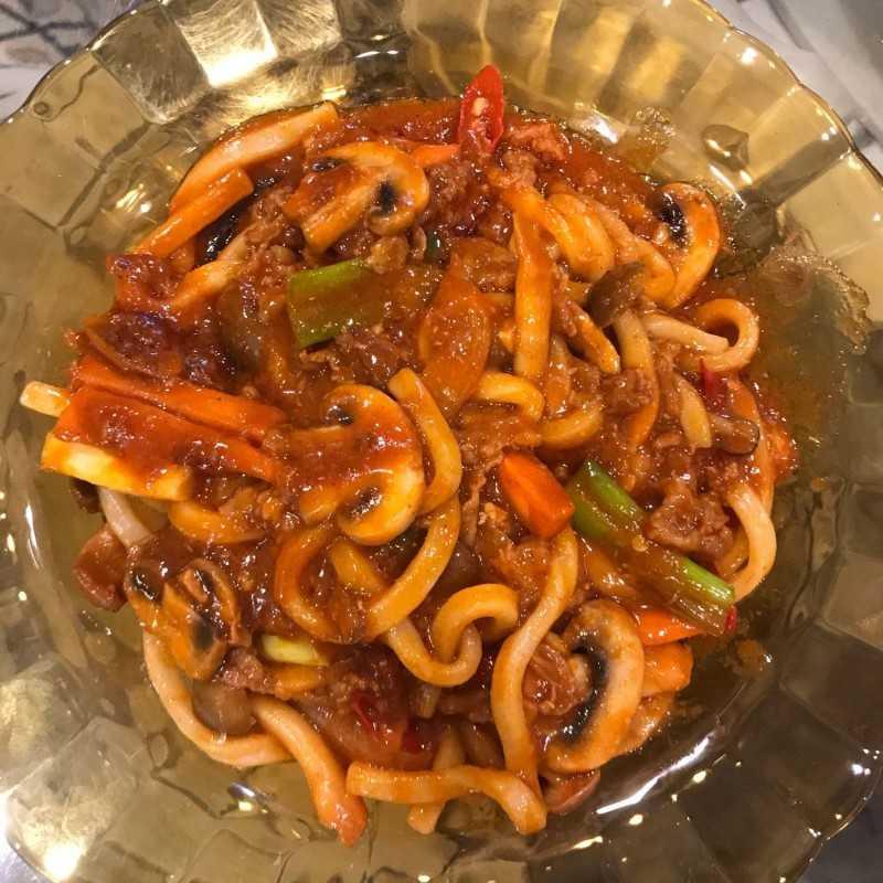 Korean Spicy Beef Yaki Udon #1Resep1NasiBungkus