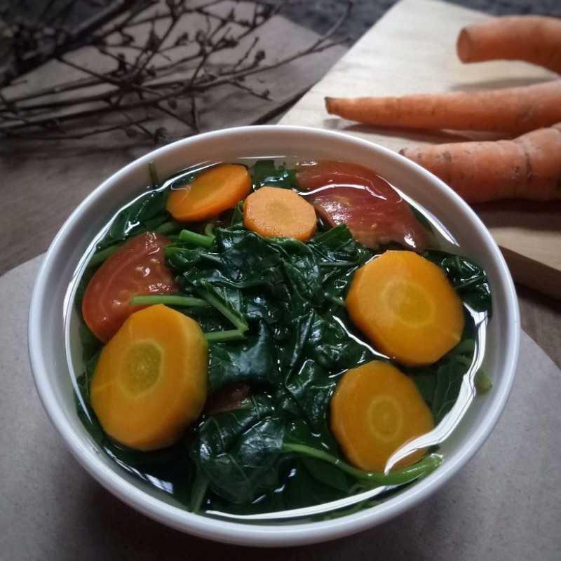 Resep Sayur Bening Bayam Wortel Jagomasakminggu4 Dari Chef Ifa Rafa Yummy App