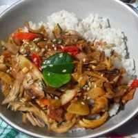 Rice Bowl Ayam Suir #1Resep1NasiBungkus