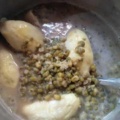 Step 5 Bubur Kacang Hijau Durian #JagoMasakMinggu8
