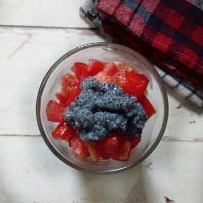 Step 5 Es Tomat Selasih #JagoMasakMinggu1Periode2