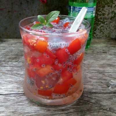Step 7 Es Tomat Selasih #JagoMasakMinggu1Periode2