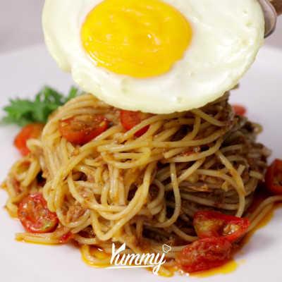 Step 5 Spaghetti Tuna Sambal Terasi