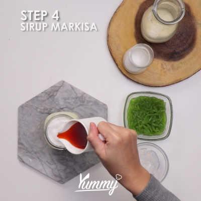 Step 4 Es Cendol Susu Markisa