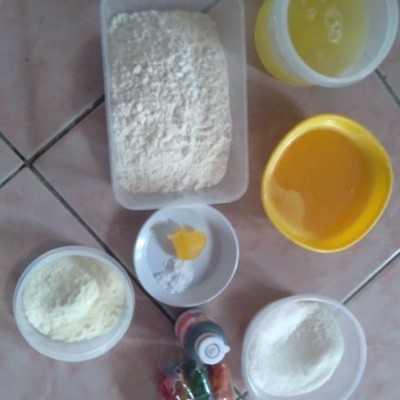 Step 1 Cake Putih Telur Cokelat #JagoMasakMinggu2Periode2