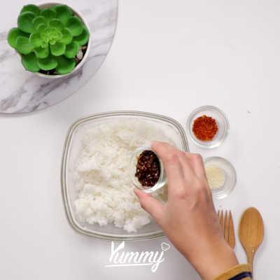 Step 2 Mentai Rice Nugget