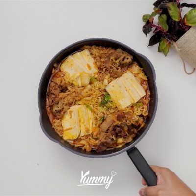 Step 5 Spicy Kimchi Jjigae
