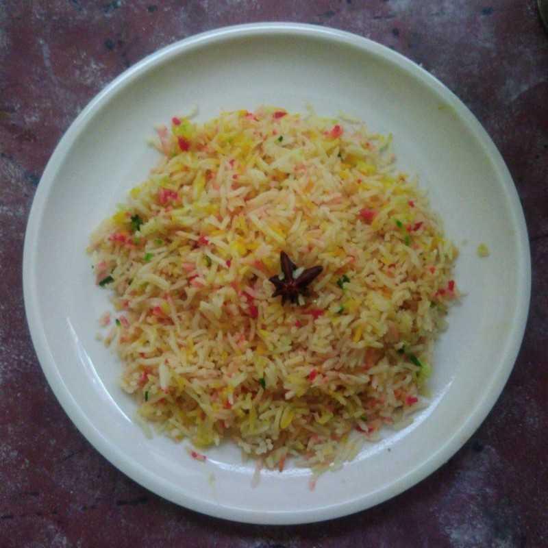 Nasi Minyak Pelangi #JagoMasakMinggu10Periode2