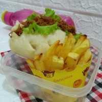 Roti Sandwich Kukus Ayam Suwir #JagoMasakMinggu3Periode3