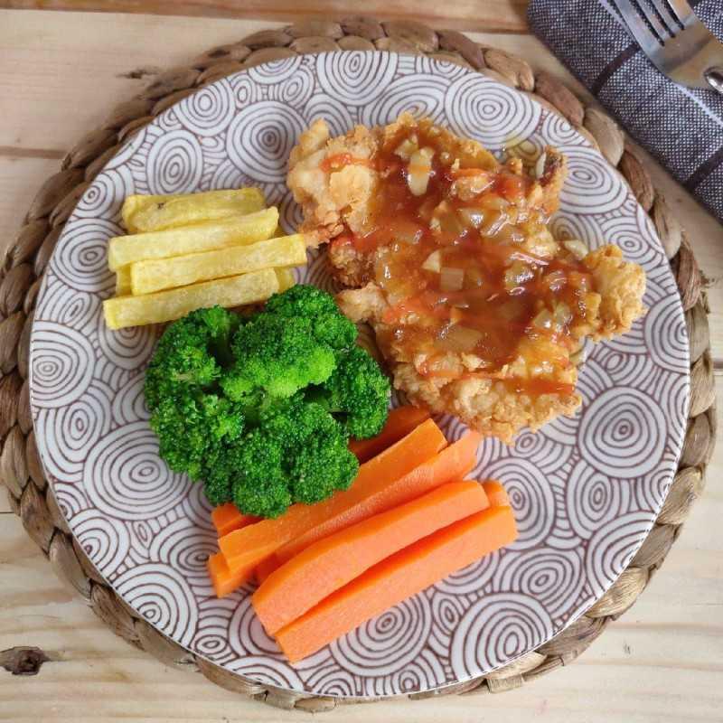 Chicken Steak Brown Sauce #JagoMasakMinggu4Periode3
