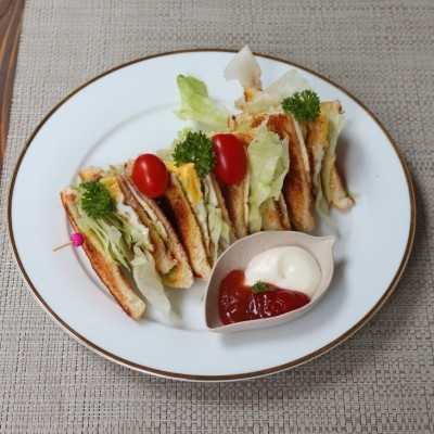 Step 6 Club Sandwich Cheese Egg #JagoMasakMinggu4Periode3