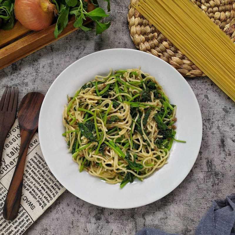 Aglio Olio Spinach #JagoMasakMinggu4Periode3