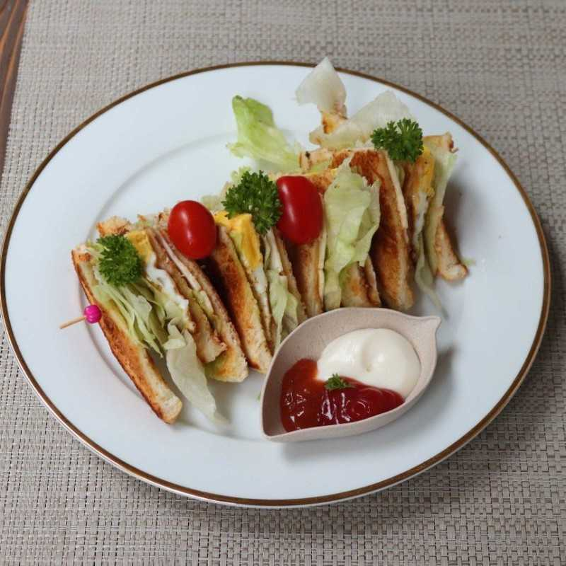 Club Sandwich Cheese Egg #JagoMasakMinggu4Periode3