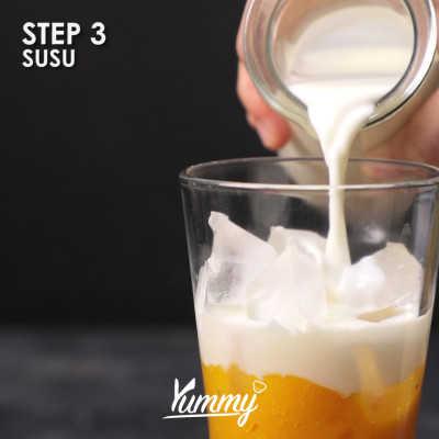 Step 3 Es Susu Mangga Float