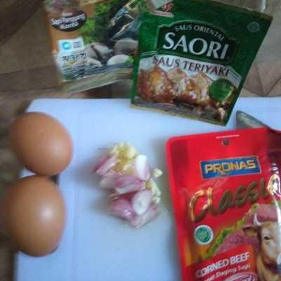 Step 1 Telur Dadar Kornet Teriyaki #JagoMasakMinggu5Periode3