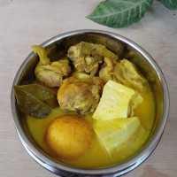 Ayam + Telur + Tahu Bumbu Kuning