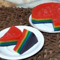 Kue Lapis Rainbow Maizena