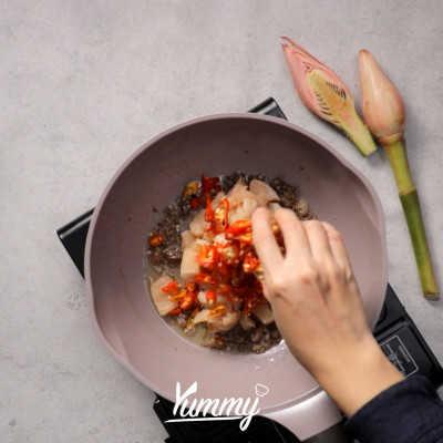 Step 2 Nasi Goreng Kecombrang