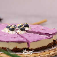 Blueberry BTS Cheese Cake (Purple Cheese Cake)