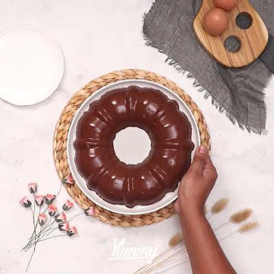 Step 5 Coklat Vanila Pudding