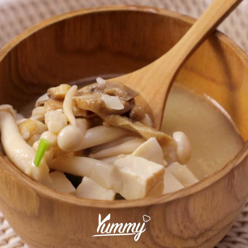 Sup Miso Tofu Jamur