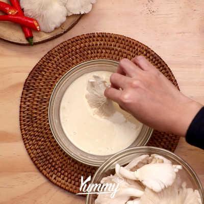 Step 1 Jamur Tiram Crispy Saus Hoisin