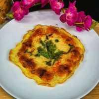 Chikuwa Nasi Telur Dadar