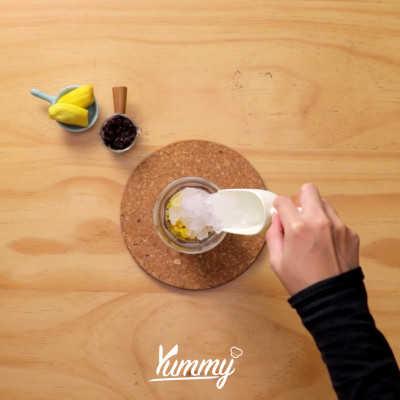 Step 2 Es Tape Ketan Durian Milky Rose