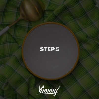 Step 5 Es Bubur Gunting Buah Naga