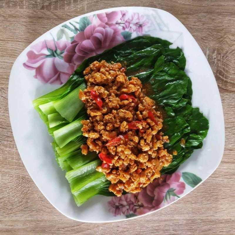 Pokcoy Siram Daging Ayam
