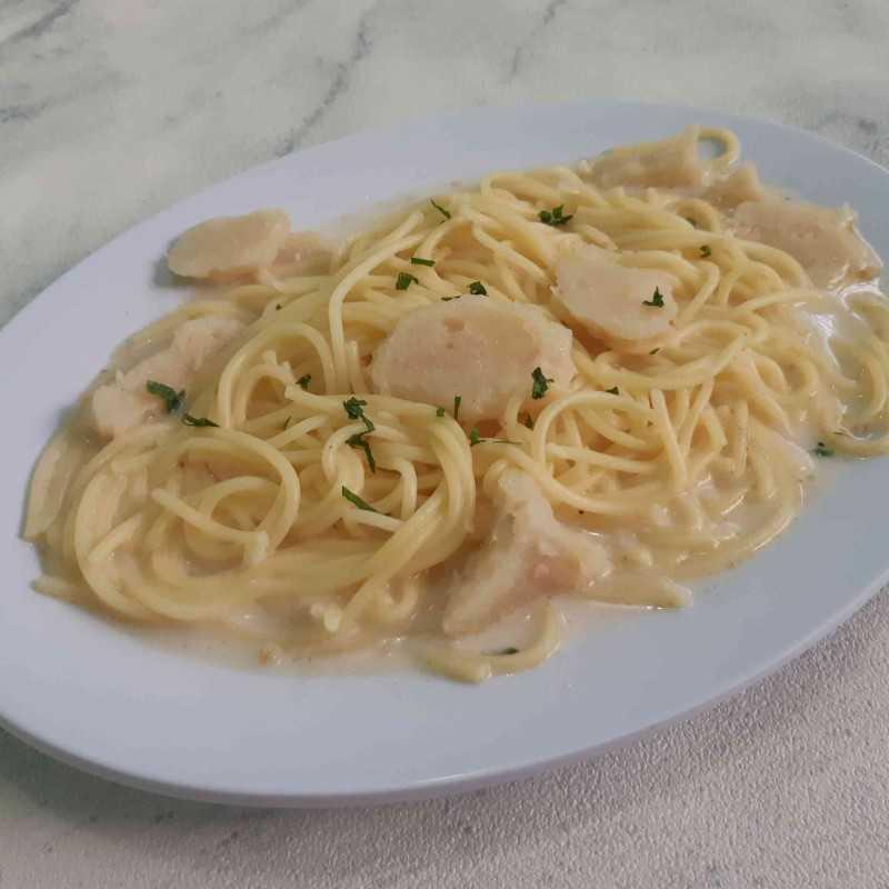 Spaghetti Fibercreme Bakso Ayam