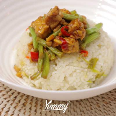 Step 5 Nasi Daun Jeruk Rice Cooker