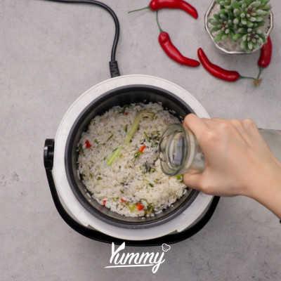 Step 4 Nasi Daun Jeruk Rice Cooker