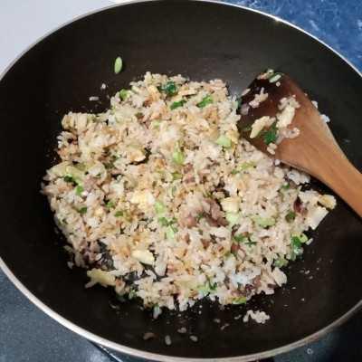 Step 5 Nasi Goreng Daging Sei Pete