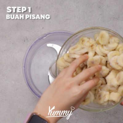 Step 1 Banana Ice Cream (3 Bahan)