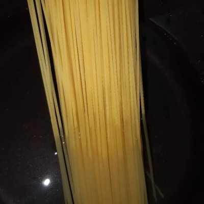 Step 1 Spaghetti Fibercreme Bakso Ayam