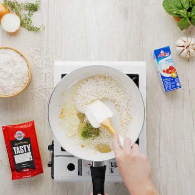 Step 3 Creamy Spinach Risotto With Tuna Steak
