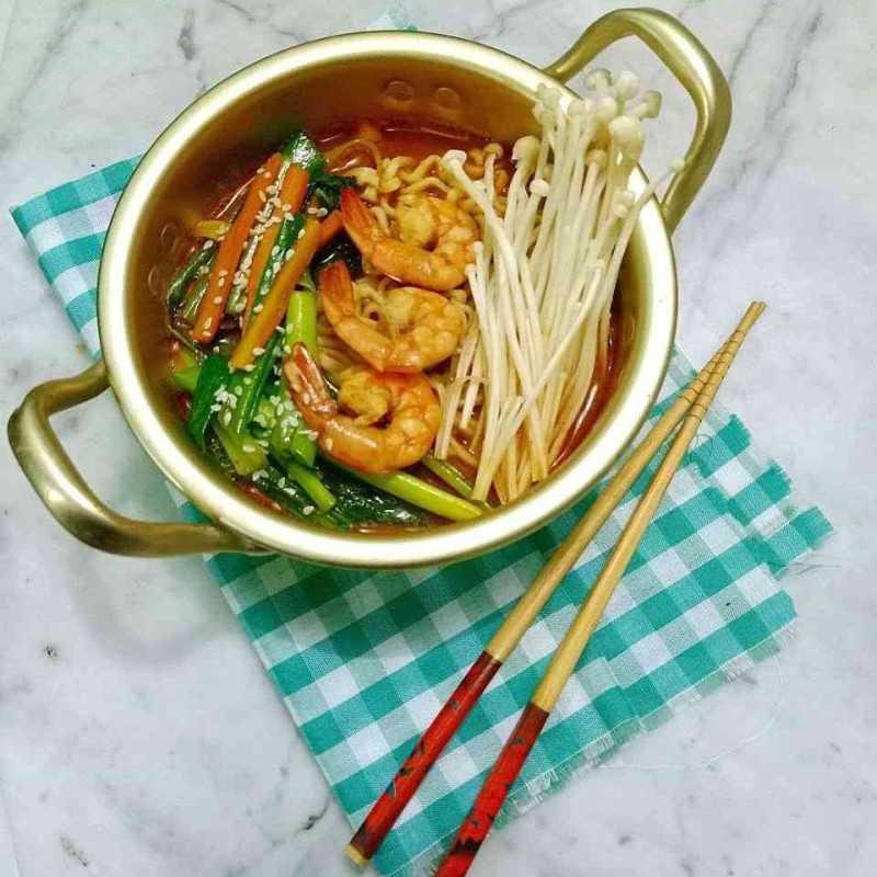 Spicy Seafood Jjamppong #KoreanFood