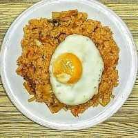 Nasi Goreng Kimchi (Kimchi Bokkeumbap) #KoreanFood