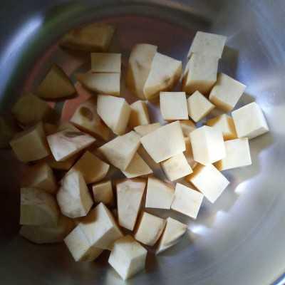 Step 1 Goguma Matcha Latte #1Resep1NasiBungkus