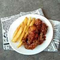 Ayam Crispy Madu Kentang Goreng