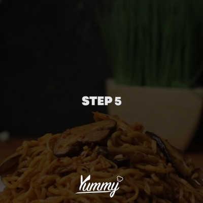 Step 5 Yakisoba Jamur Kimchi