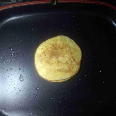 Step 4 Pancake Pisang Keju #UntukSiBuahHati