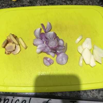 Step 1 Sayur Bening Bayam
